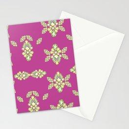 Jewelbox: Citrine Brooch on Dark Lipstick Stationery Cards
