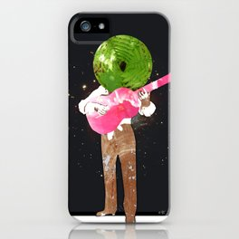 Guitar Man Collage iPhone Case