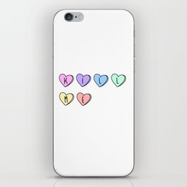 Kill Me Candy Hearts iPhone Skin