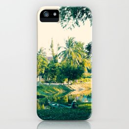 River Scene, Hoi An, Vietnam iPhone Case