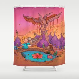 My wise friend and I Shower Curtain