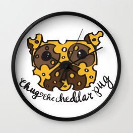 Chug the Cheddar Pug Wall Clock