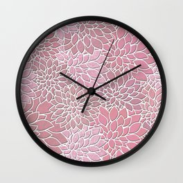 Floral Abstract 27 Wall Clock