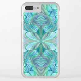 Abalone Shell Nautilus Kalidescope Clear iPhone Case