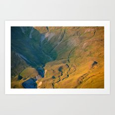 Over The Rills And Far Away Art Print