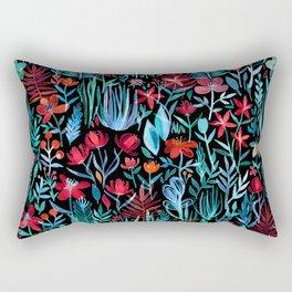 Though I Walk at Night Rectangular Pillow