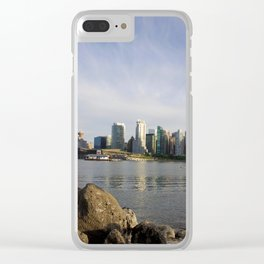 Vancouver Cityscape Clear iPhone Case