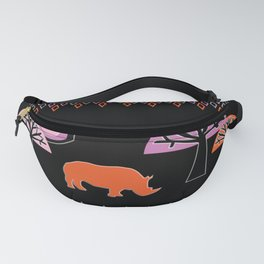 African Rhino - by Kara Peters Fanny Pack