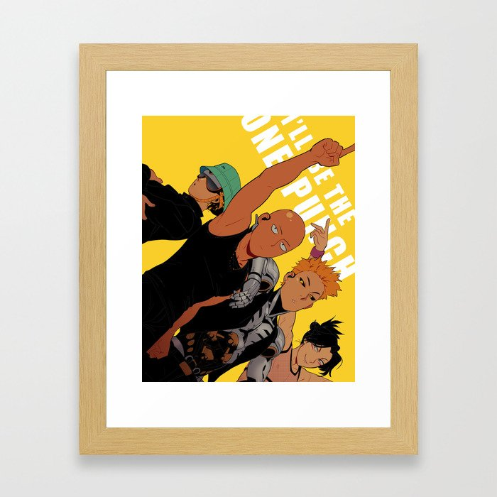 Onepunch Boys Framed Art Print