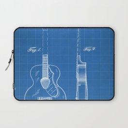 Accoustic Guitar Patent - Classical Guitar Art - Blueprint Laptop Sleeve