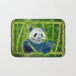 abstract panda Bath Mat