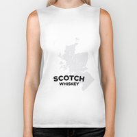 whiskey Biker Tanks featuring Scotch Whiskey by Stephen John Bryde