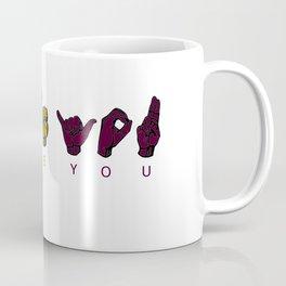 Sign Language I LOVE YOU Coffee Mug