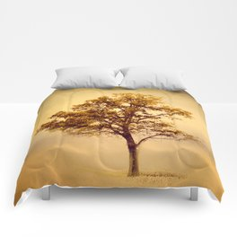 Amber Gold Cotton Field Tree Comforters