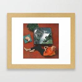 Coffee Table Talk Framed Art Print