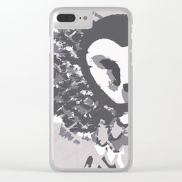 Flying owl. Hand drawn vector illustration. Wild. Clear iPhone Case