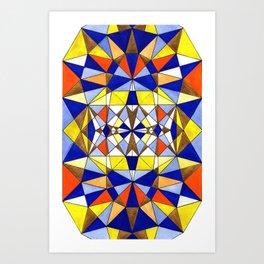 Geometric art buzz Art Print