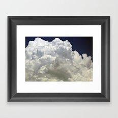navy cloud Framed Art Print