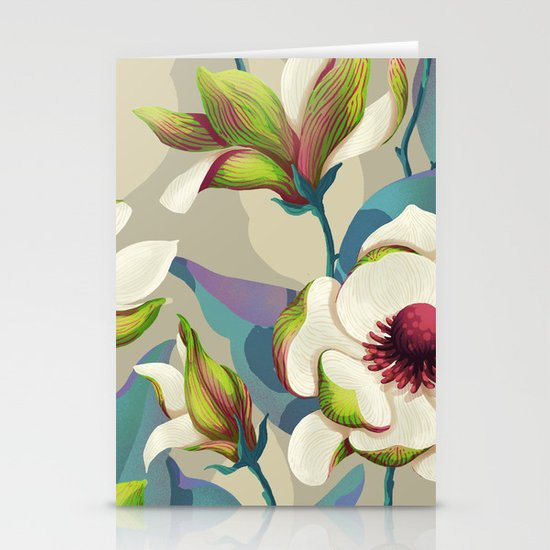 magnolia bloom - vivid version Stationery Cards