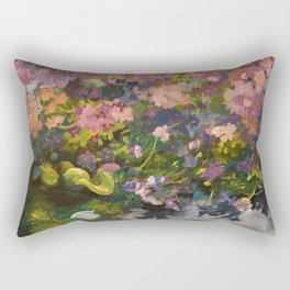 Pond with flowers Rectangular Pillow