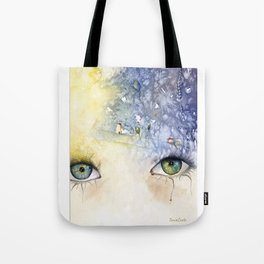 """In your face live heaven"" Tote Bag"