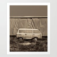 van Art Prints featuring Van by Bekim ART