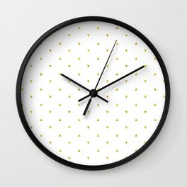 Gold Triangles Pattern Wall Clock