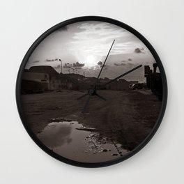"Maritime Landscape - Old Port - Trapani - Sicily - ""Vacancy"" zine Wall Clock"