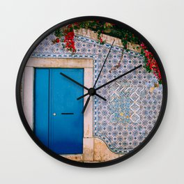 Framed in Lisbon Wall Clock
