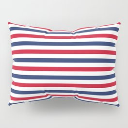 Navy Stripes Pillow Sham