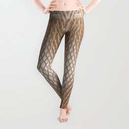 Cool Elegant Frosted Mocha Geometric Design Leggings