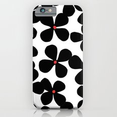 Black flowers iPhone 6 Slim Case