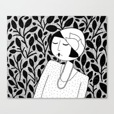 Ramona, lost in thought Canvas Print