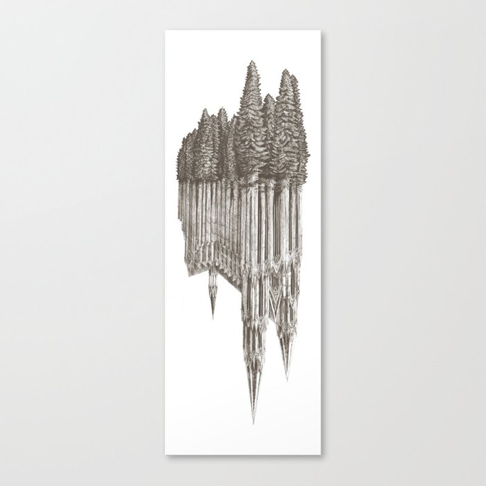 Gothic Revival on white Canvas Print