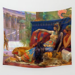 Alexandre Cabanel Cleopatra Testing Poisons on Condemned Prisoners Wall Tapestry