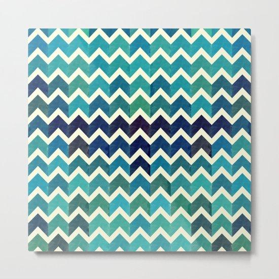 Colorful Chevron Pattern V Metal Print
