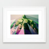 wallet Framed Art Prints featuring Mad Man by Liam Brazier