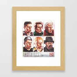 The Biffs - Every Biff, Griff, and Buford from Back to the Future Framed Art Print