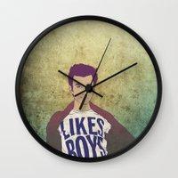 kurt rahn Wall Clocks featuring Kurt Hummel by Kimball Gray
