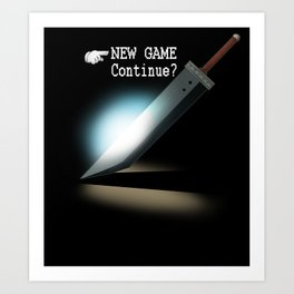 NEW GAME - Continue? Art Print