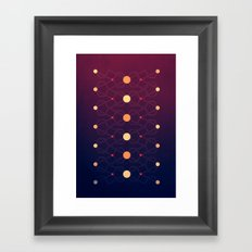 Connecting the dots Framed Art Print