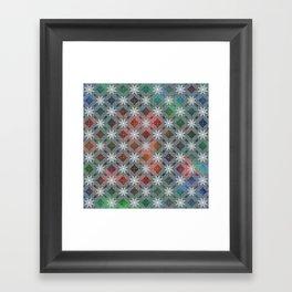 Abstract Star Flower Pattern Framed Art Print