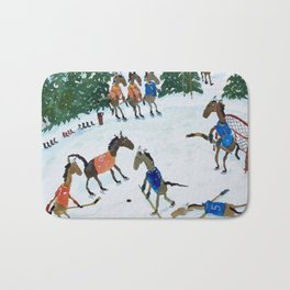 Horse Hockey! Bath Mat