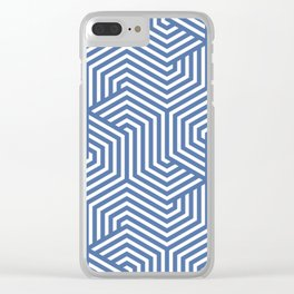 Blue yonder - blue - Minimal Vector Seamless Pattern Clear iPhone Case