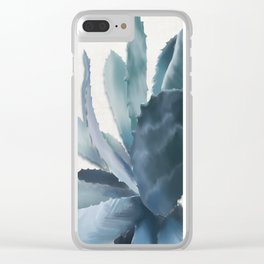 Agave, botanic print - grey Clear iPhone Case