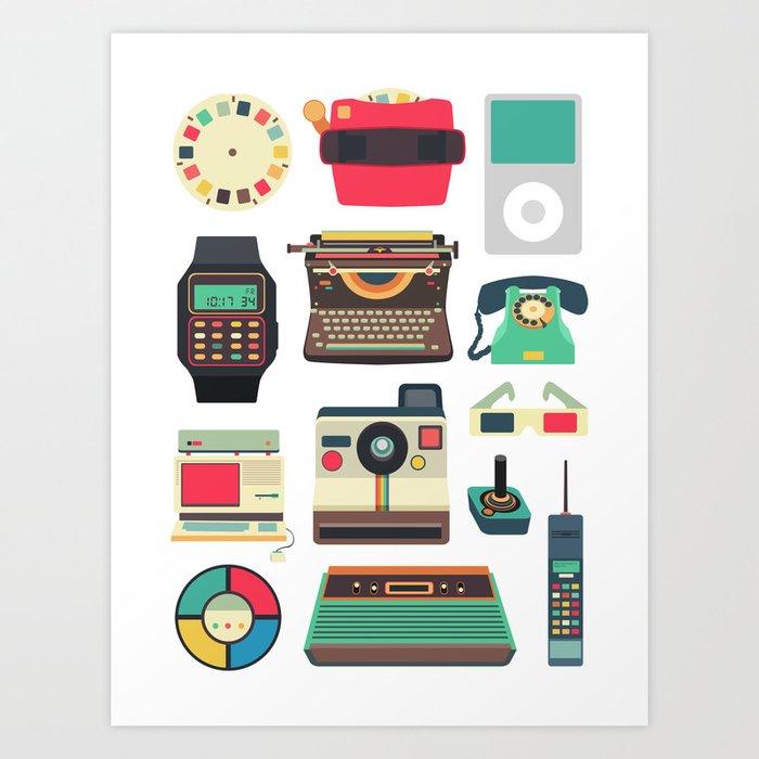 RETRO TECHNOLOGY 2.0 Art Print
