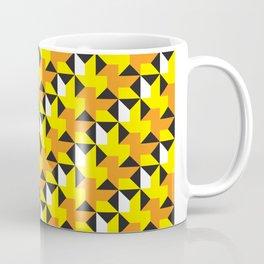 Geometric Pattern 214 (yellow orange black triangles) Coffee Mug