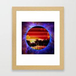 Synthwave Poster v.1 Framed Art Print
