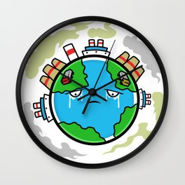 Earth Day Climate Change - Help Me Wall Clock