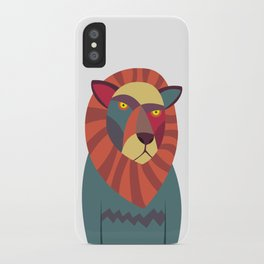 Hipster Lion iPhone Case